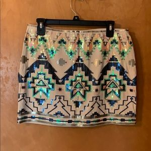 Express mini skirt with sequins